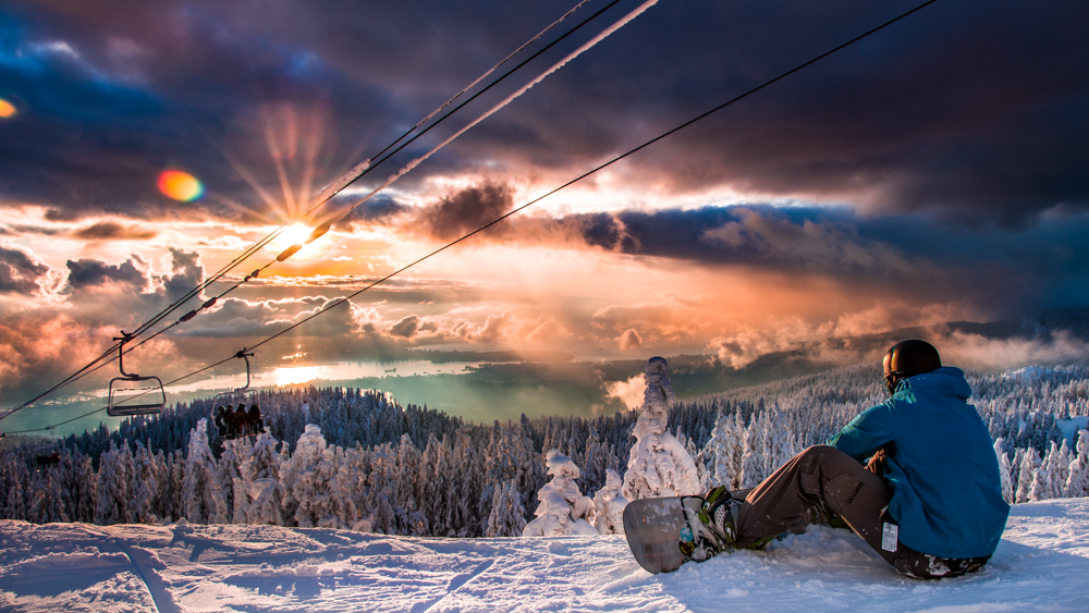 Sunset at Mt Seymour above Vancouver