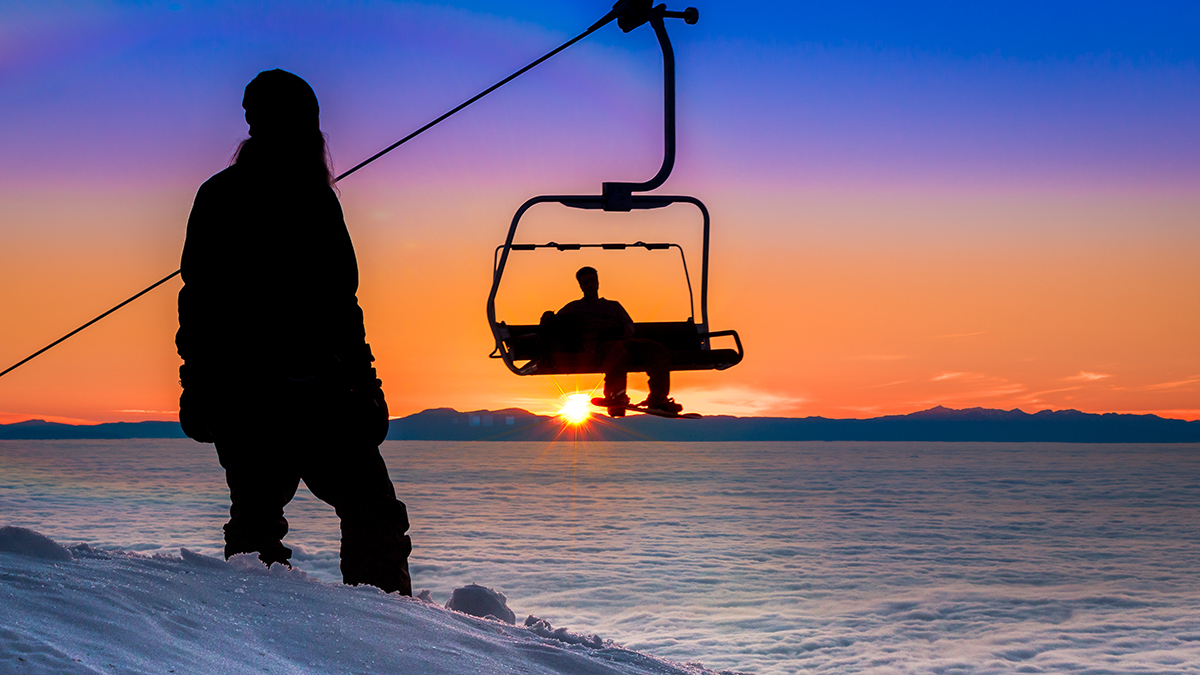 Sunset at Mt Seymour in Vancouver