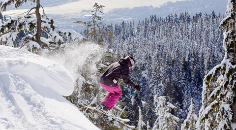 Skiing at Mt Seymour in Vancouver