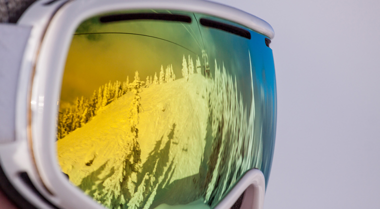 Mt Seymour goggle reflection