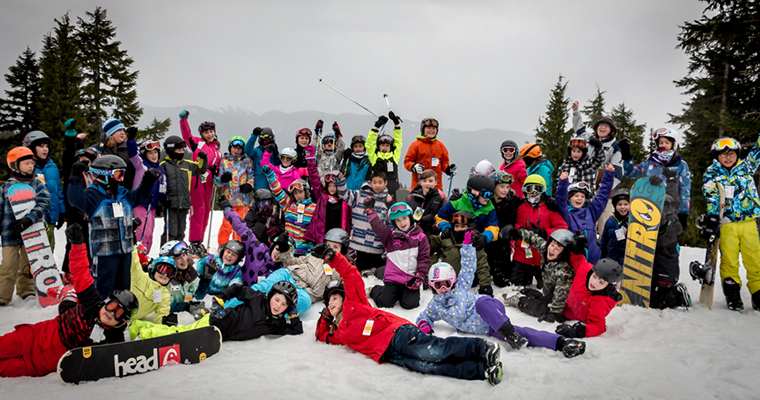 School group at Mt Seymour in Vancouver