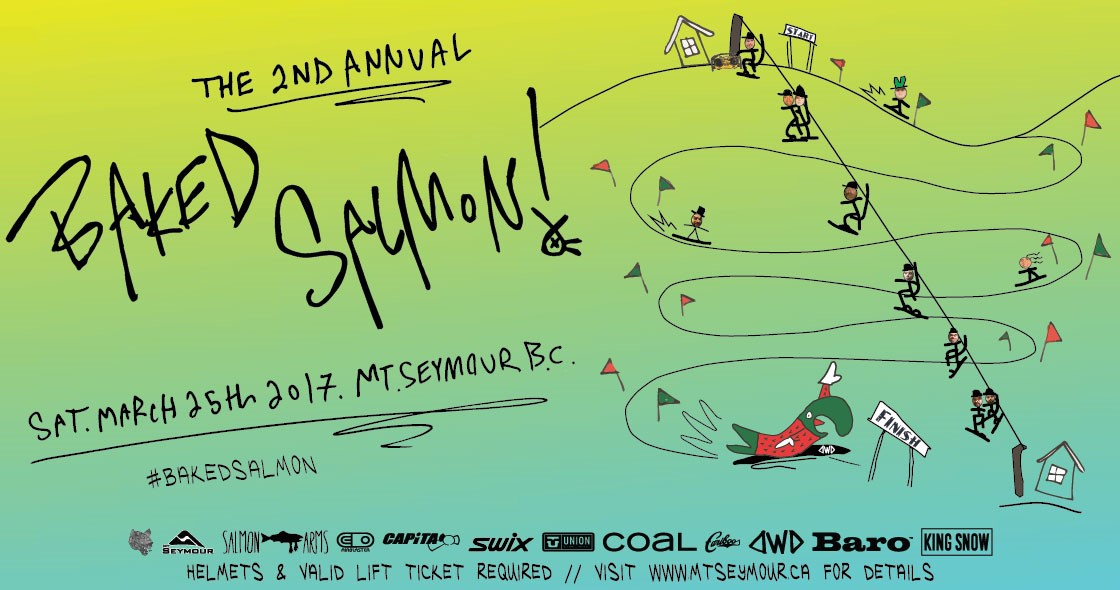 Baked Salmon Banked Slalom at Mt Seymour